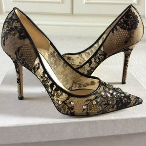 New Jimmy Choo Lace 100 Pumps